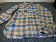 Vintage Woolrich Large Mens Plaid Button Down Shirt Made In USA Flannel