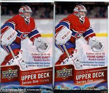 LOT OF (2) PACKS 2015-16 UPPERDECK S1 HOCKEY RELIC, PATCH OR AUTO HOT PACK