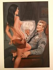 ORIGINAL Sexy Pulp ART Sam Samson Pollen STAG Mens Magazine Nov. 1972 Painting
