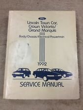 1992 Ford Crown Victoria, Mercury Marquis, Lincoln Town Car OEM Service Manual