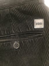 Hugo Boss Cords Trousers Corduroy Black Men's 36 52 Was £150
