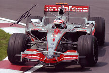 Fernando Alonso F1 autograph, In-Person signed 8X12 inches F1 McLaren 2007 photo