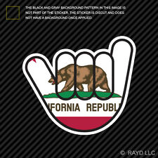 (2x) California Shaka Sticker Die Cut Decal Vinyl shocker hang loose californian