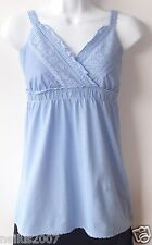 BNWT Dusty Blue Summer Strapped Sexy Dorthy Perking Top T-Shirt UK Size 6 Age 14