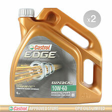 Castrol EDGE Supercar 10w-60 FST Fully Synthetic Car Engine Oil - 2 x 4 Litre 8L