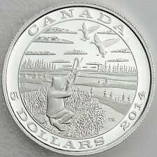 Canada 2014 $5 Tradition of Hunting: Canada Goose, 99.99% Pure Silver Proof Coin