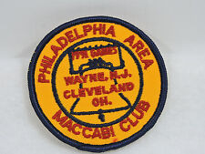 Vintage 1991 Philadelphia Area Maccabi Club Games Patch Gold Red Liberty Bell