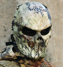 Highland Skull Gear Tactical Paintball Airsoft Tactical Outdoor Full Face Masks