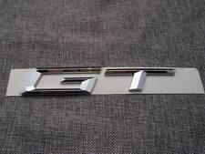 Chrome GT Letters Number Trunk Rear Emblem Badge Sticker for BMW 3 5 Series GT