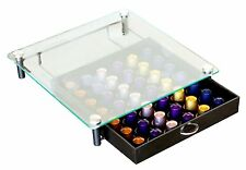 DecoBros Crystal Tempered Glass Nespresso Storage Drawer Holder for Capsules