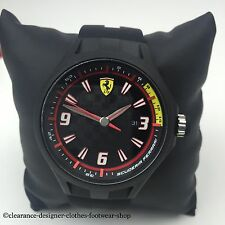 Scuderia Ferrari Mens Pit Crew Slim Black Strap Watch 2 Year Warranty RRP £90