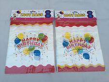 16 HAPPY BIRTHDAY PLASTIC PARTY LOOT GOODY BAGS TREAT BAG FAST FREE SHIPPING