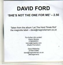 (BT967) David Ford,  She's Not The One For Me - DJ CD