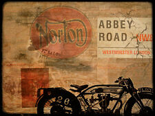 Norton Abbey Road Motorcycle Classic Automotive Metal Sign