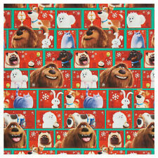 THE SECRET LIVES OF PETS GIFT WRAP WRAPPING PAPER ROLL CHRISTMAS HOLIDAY 60 SQ.