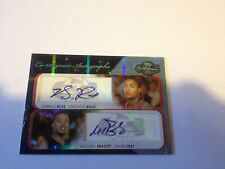 DERRICK ROSE & MICHAEL BEASLEY 2008-09 TOPPS Co-Signers AUTOGRAPHS RC AUTO 1/1