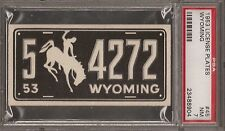 PSA 7 1953 TOPPS LICENSE PLATES #45 WYOMING