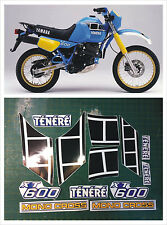 Kit completo YAMAHA XT 600 Z TENERE 1984  blù - adesivi/adhesives/stickers/decal