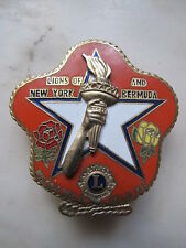 LIONS CLUB of NEW YORK and BERMUDA PIN Multiple District 20 Dallas 1985