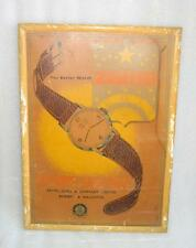 Vintage Old Rare Favre Leuba & Co. Zenith Watch Ad Litho Print Framed Sign