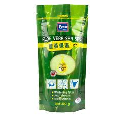 [YOKO] Aloe Vera Spa Salt Whitening Moisturizing Exfoliating Body Scrub 300g NEW
