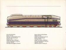 VINTAGE RAILWAY GERMAN TRAIN ENGINES PRINT ~ DEUTSCHE REICHSBAHN ~