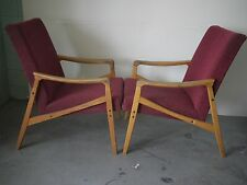 pair of 1960's lounge chairs interesting shape eastern block