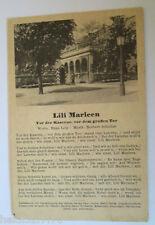 """""""Lied Karte, Lili Marleen, Ver der Kaserne, vor dem großen Tor"""" 1916  ♥  (18662)"""