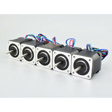 5PCS Nema 17 Stepper Motor Bipolar 2A 84oz.in 48mm 4-lead for 3D Printer/CNC