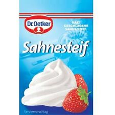Dr.Oetker Sahnesteif Whip Cream Stabilizer Pack of 10 (10 x 8 g) Made in Germany