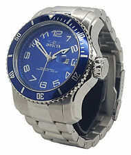 Invicta 15073 Mens Pro Diver Blue Dial Stainless Steel Silver Tone 48mm Watch