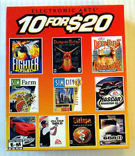 Electronic Arts 10 For $20 ~ Rare PC Game Compilation Set ~ Dungeon Keeper Sim