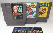 SUPER MARIO BROS 1 2 3 TRILOGY GAMES SET - NINTENDO NES - 30 DAY WARRANTY !!!