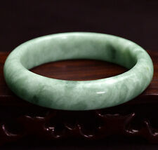 Natural Bangle Bracelet Hot Green Jade Floating Flowers Gems Beautiful 56mm-59mm