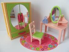 Playmobil Modern dressing table & mirrored wardrobe NEW dollshouse furniture