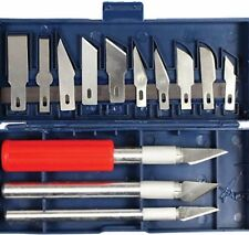 16pc EXACTO STYLE HOBBY KNIFE FOR MULI-PURPOSE CRAFTS