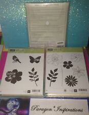 NEW Retired Stampin Up SECRET GARDEN NATURE'S HELLO & FRAMELITS DIES Bundle Lot
