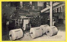 cpa 21 - DIJON Journal LE PROGRÈS de la CÔTE d'OR Atelier des Machines Rotatives
