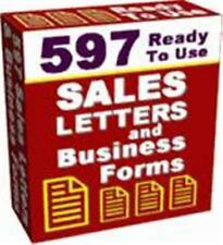 597 Ready To Use Sales Letters Ebook On CD $5.95 + Resale Rights Free Shipping