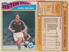 152 DENNIS MORTIMER # ENGLAND ASTON VILLA.FC CARD PREMIER LEAGUE TOPPS 1978