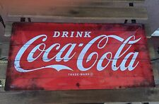 Coca Cola Metal Sign - Red XXL - 50 x 25 cm - Embossed metal sign