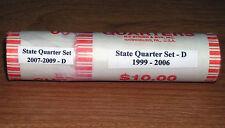 1999-2009 Denver Mint Complete State Quarter set - 56 BU coins