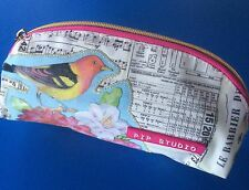 Pip Studio Cosmetic Bag/ Pencil Case - Floral / Bird/  Music Notes Design