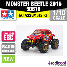 NUOVO! 58618 TAMIYA VW Rosso Monster Beetle 2015 RWD 1 / 10th R / C KIT RADIOCOMANDO