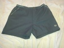 "L4 Mens Vtg TENNIS shorts Fancy dress stag Retro 1980s XXL 40"" Grey fc"