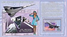 Concorde plane planes stewardess aviation Congo DR s/s #4 #CDR0719d