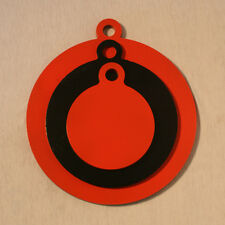 """3 Steel AR400 Round Swinging GONG Target Combo Of 4"""" 6"""" 8"""" Pistol Rifle Targets"""