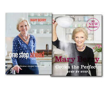 Mary Berry Collection Mary Berry Cooks the Perfect and One Step Ahead 2 Books Se