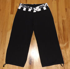 EUC Lululemon Crops Cropped Black Pants Astro fold down Drawstring calfs