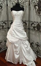 S247W ALYCE CLAUDINE 7861 SZ 12 WHITE CORSET BEADED NWT $1489 WEDDING DRESS GOWN